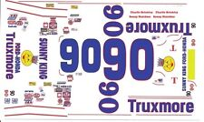 #90 Sonny Hutchins Truxmore 1967 Ford Fairlane 1/32nd Scale Slot Car Decal