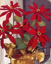 Vintage Crochet Flowers Poinsettia Christmas Pattern