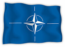 Nato bandiera etichetta flag sticker 15cm x 11cm