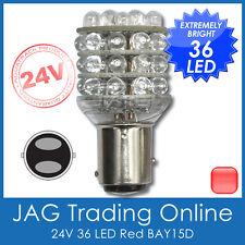 24V 36-LED BAY15D RED 1157 AUTOMOTIVE STOP/TAIL GLOBE -Truck/Caravan Light Bulb
