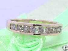 Brillant Ring 585 Gelbgold 14Kt Gold 9 Brillanten total 0,50ct Kanalfassung