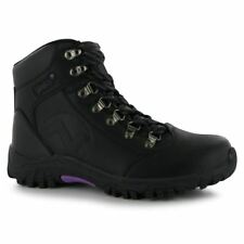 Gelert Womens Leather Hiking BOOTS Outside Walking Ankle Laced Shoes Footwear Black UK 6.5 (40)