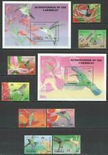 [DOM] DOMINICA 1992 BIRDS, Hummingbirds SET OF 8 STAMPS + 2 SOUVENIR SHEETS.