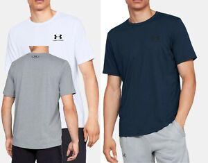 Men's Under Armour SS T-shirt, HEARGEAR Tee Blue-White- Grey Melange