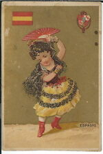 BA-254 Grouping of Ten Victorian Trade Cards Girls in Traditional National Dress