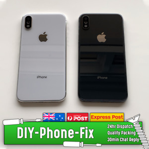 Apple iPhone X Complete Housing Back Plate Rear Genuine Glass Replacement Lens