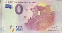 BILLET 0  EURO IL GIGANTE MONTEROSSO AL MARE  2017  NUMERO 5000 DERNIER BILLET