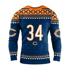 2x- CHICAGO BEARS NFL WALTER PAYTON RETIRED PLAYER Ugly Christmas SWEATER #34