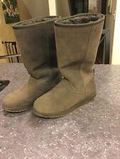 New $130 Emu Spindle Hi Women's Brown Sheepskin Winter Boots US Size 5 EU 35/36