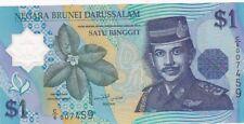 UNC 1996 Brunei 1 Ringgit Polymer Note, Pick 22a
