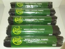 (5) Garden Ease 5.4 x 1.1 Yd Black Weed Control Fabric - Gardening Landscaping