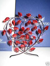 Swarovski Crystal Candle Holder Heart shaped w/red Petals Nib 2008