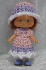 STRAWBERRY SHORTCAKE Doll Clothes #10 Handmade Crochet Dress & Hat Set