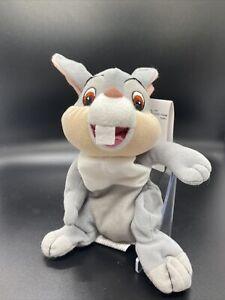 "Disney Store Bambi Thumper Bunny Rabbit Bean Bag 8"""