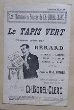 partition LE TAPIS VERT - Bérard - Borel Clerc