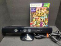 Microsoft Xbox 360 Kinect Sensor Bar 1414 Kinect Adventures Game & Manual Bundle