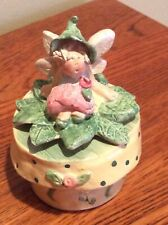 Trinket Box by Midwest of Cannon Falls - with Lid, Fairy, Turtle, Mint