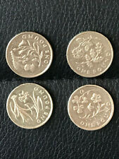 Old round £1 coin FLORAL Ireland, Wales, England, Scotland 2013 2014