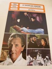 FICHE CINEMA,LE BAISER DU VAMPIRE (kiss of the vampire) DON SHARP ,evans ,1962