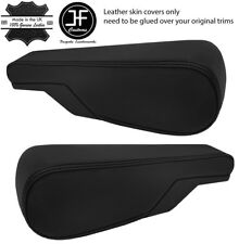 BLACK STITCH 2X SEAT ARMREST REAL LEATHER COVERS FITS VW TYPE 3 T3 MULTIVAN