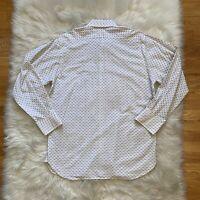 Ike Behar Mens Button Up Shirt Down Front Point Collar Dress XL Long Sleeves