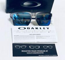 NWT Polarized Prizm OAKLEY Holbrook Gun Metal Sapphire Blue Sunglasses OO4123-07
