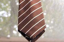 Ermenegildo Zegna Men's Silk Tie - Brown with stripes - Handmade in Italy - Used