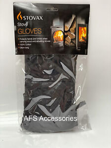 STOVAX STOVE GLOVES (38cm) - 1 PAIR 100% Cotton BBQ, FIREPIT, OVEN, GRILL
