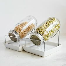 Kenley Seed Sprouter germoir germination Kit Avec Bocaux Mason couvercles & stan...