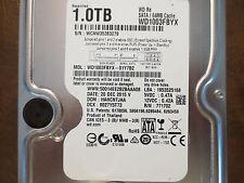 """Western Digital WD1003FBYX-01Y7B2 DCM:HANCNTJAA 1.0TB 3.5"""" Sata hard drive"""