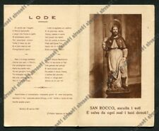 SAN ROCCO 06 SAINT ROCH - SANTINO DOPPIO - HOLY CARD IMAGE PIEUSE 1927