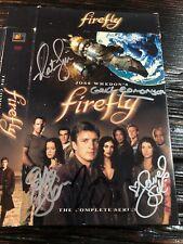 Firefly Dvd Box Set Cover Only Signed Whedon, Fillion, Edmonson, Staite, Glau, S
