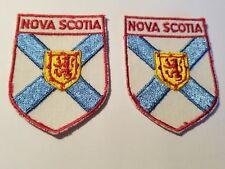 2-VINTAGE  NOVA SCOTIA  CREST SOUVENIR  PATCH EXCELLENT CONDITION