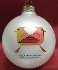 Charlie/ Charley Harper - Glass Christmas Ornament - CARDINALS CONSORTING - bird