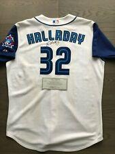 Roy Halladay Game Used Worn Signed Jersey Blue Jays Team LOA 2002