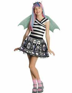 Monster High, Child Rochelle Goyle Costume, Gargoyle Black White Wings Girls