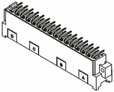 Harting 09 06 séries 48 Way 2.54 mm,5.08 mm épaisseur,type F CLASSE C2,3