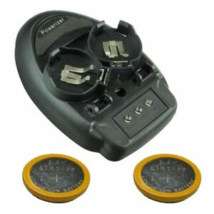 Charger for Rechargeable Coin Cell LIR2450 with 2 Batteries [LIR2450-KIT]