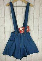 Levis Red Silk Lined Dungaree Bib Brace Fishtail Shorts W27 £580 New Sample Rare