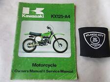 KAWASAKI KX125-A4 OWNERS & SERVICE SHOP REPAIR MANUAL 99920-1012-01