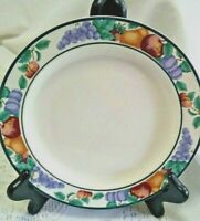 3 Intro by Tienshan Stoneware Orchard Rimmed Salad/Dessert/Bread Plates Fruit