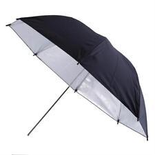 "33"" 83cm Studio Photography Black Silver Reflector Umbrella For Camera Speedlite"