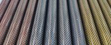 2pcs 3k Red/Blue/Yellow Carbon Fiber Metallic Tube Roll Wrapped Plain Gloss 50cm