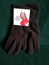 Black STRETCH Gloves TOUCH SCREEN COMPATIBLE Smartphone Texting Fleece ONE SIZE