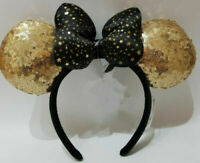 Disney Exclusive Disneyland Paris Is Magical Black and Gold Minnie Mouse Ears