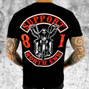 Hells Angels Support 81 T-Shirt Rider Black Men's HAMC North End