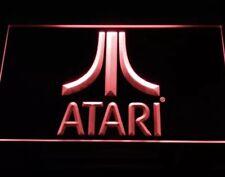 "ATARI VIDEO GAME ARCADE LED NEON LIGHT SIGNS - 12"" x 8"" Man Cave Game Room"
