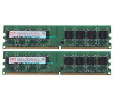#648 NEW 2GB 2X 1GB PC2-5300U DDR2 667MHz 240PIN DIMM Desktop Memory RAM NON-ECC