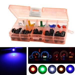 30 Sets T5 6 Colors 5050 SMD LED Bulb Car SUV Dashboard Instrument Panel Lights