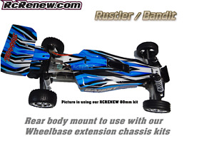 RCRENEW Traxxas Rustler Bandit Drag racing extended Chassis Wheelbase body mount
